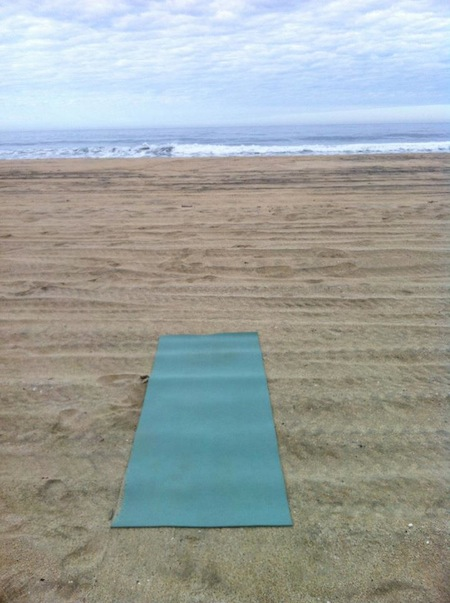 yoga-mat-on-beach